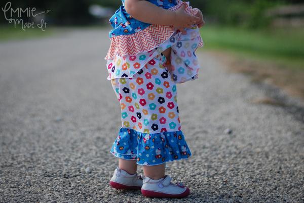 Jenna's Lace Ruffle Pants and Capris Sizes NB to 15/16 Kids PDF Pattern