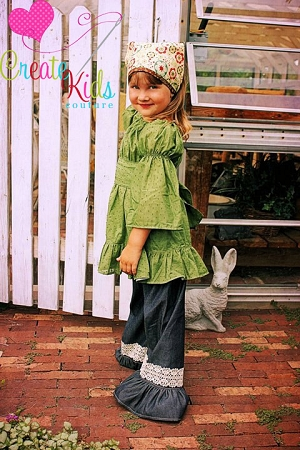 Paired with Felicity's Peasant Top and Megan's Accessory Pack Patterns