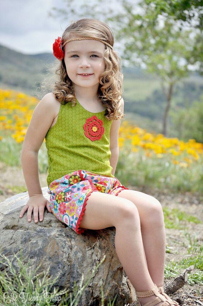 Leela's Little One Piece Sizes NB to 14 Kids PDF Pattern