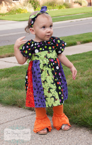 Jewel's Stripwork Dress Sizes NB to 8 Kids PDF Pattern