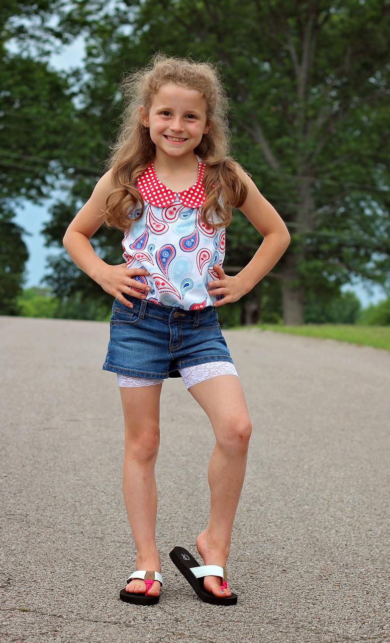 Ellen's Shorts Extenders Sizes 2T to 14 Kids PDF Pattern