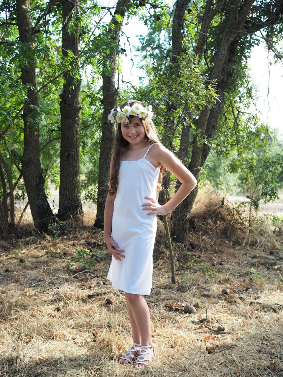 Nola's Cami Top, Slip, and High-Low Dress Sizes 2T to 14 Kids PDF Pattern