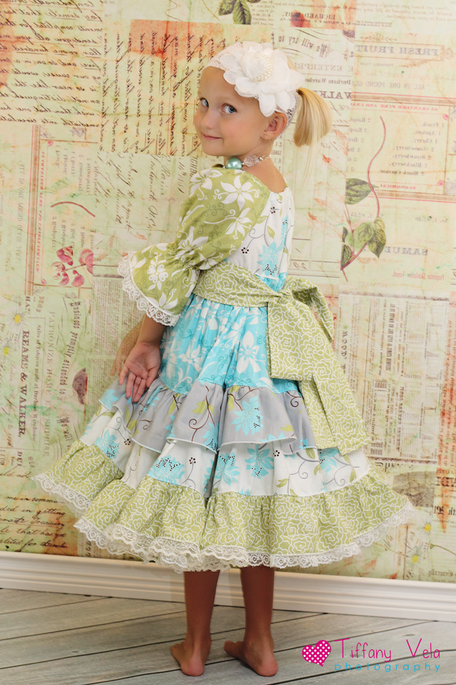 Joy's Lace Twirly Dress Sizes NB to 15/16 Kids and Dolls PDF Pattern