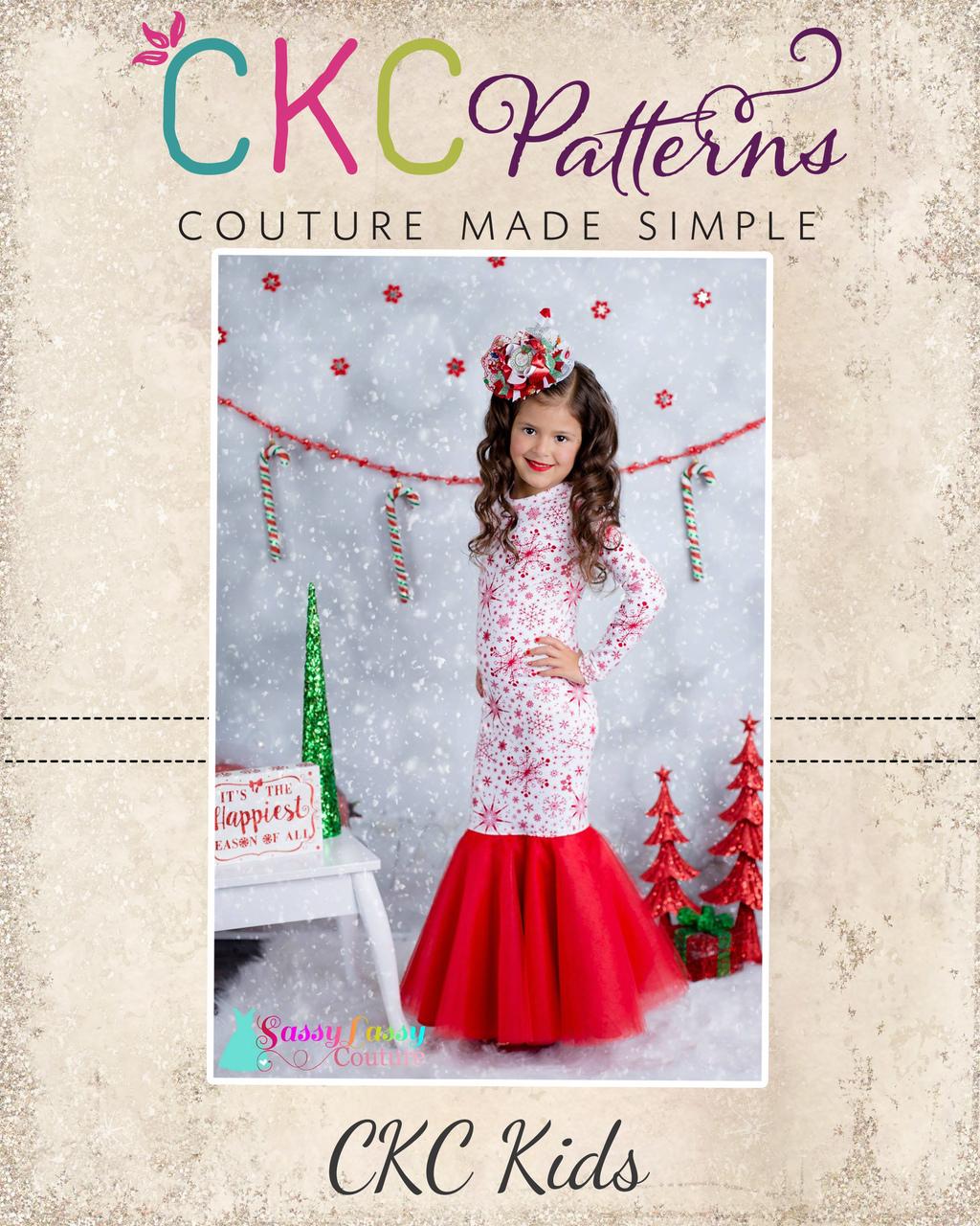Faryn's Formal Gown & Skirt Sizes 2T to 14 Kids PDF Pattern
