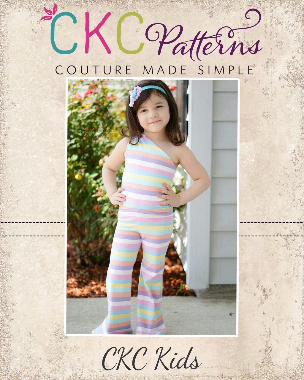 Analise's Knit Romper Sizes 2T to 14 Kids PDF Pattern