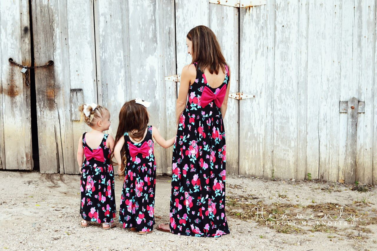 Amy's Knit Bow Dress and Maxi Sizes NB to 14 Kids and Dolls PDF Pattern