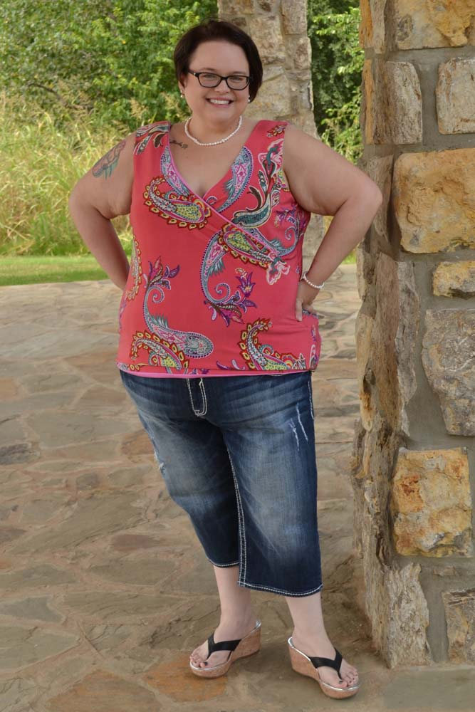 Catarina Crossover Tank Crop and Top Sizes XXS to 5X Adults PDF Pattern