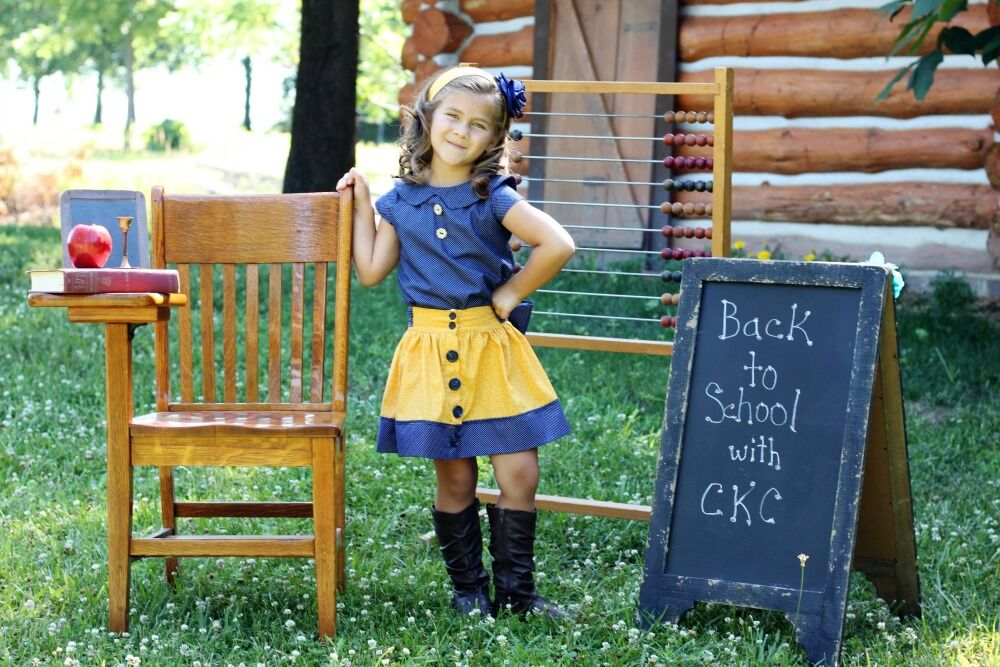 Bentlee's Button-Up Skirt Sizes 2T to 14 Kids PDF Pattern