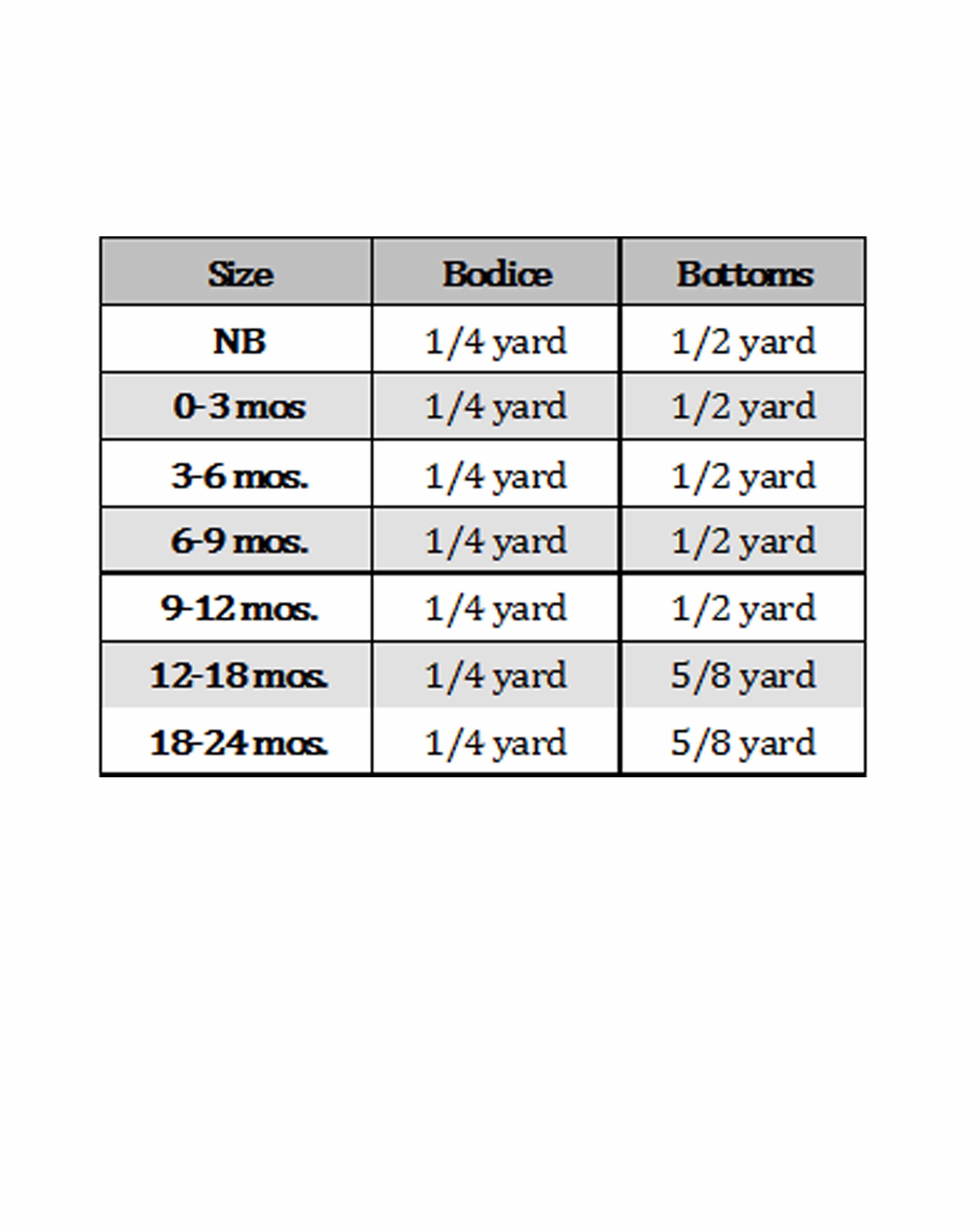 Hiley's Romper Sizes NB to 8 Kids PDF Pattern