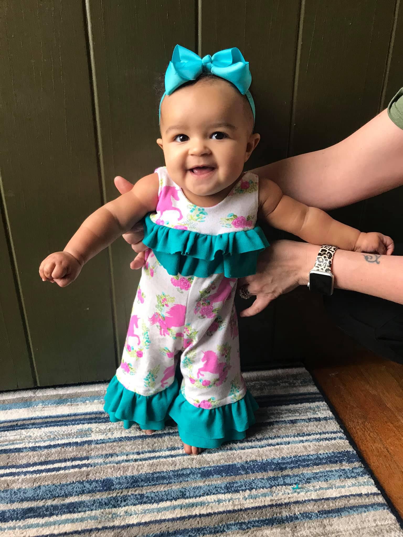Sarah's Romper Sizes NB to 18/24m Babies PDF Pattern