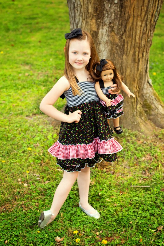 Lacey's Reversible Apron Top Sizes 6/12m to 8 Kids and Dolls PDF Pattern