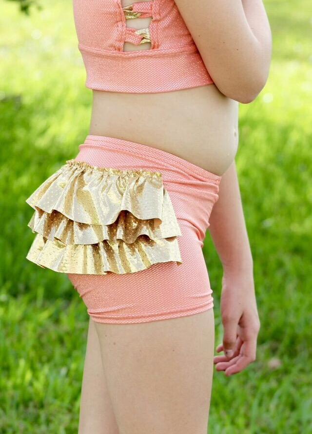 Meadow's Dance Shorts Sizes 2T to 14 Kids PDF Pattern