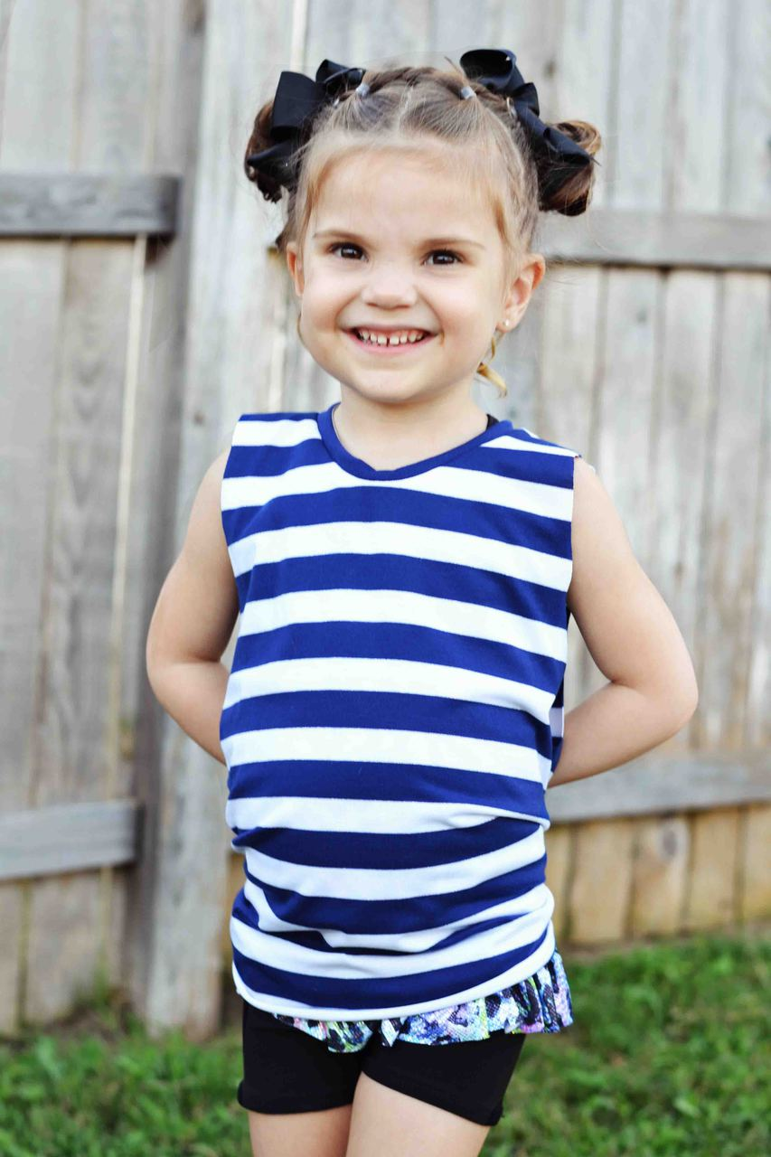 Vivica's Twisted Tank Sizes 2T to 14 Kids PDF Pattern