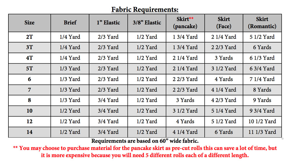 Ember's Face Skirt and Tutu PDF Pattern