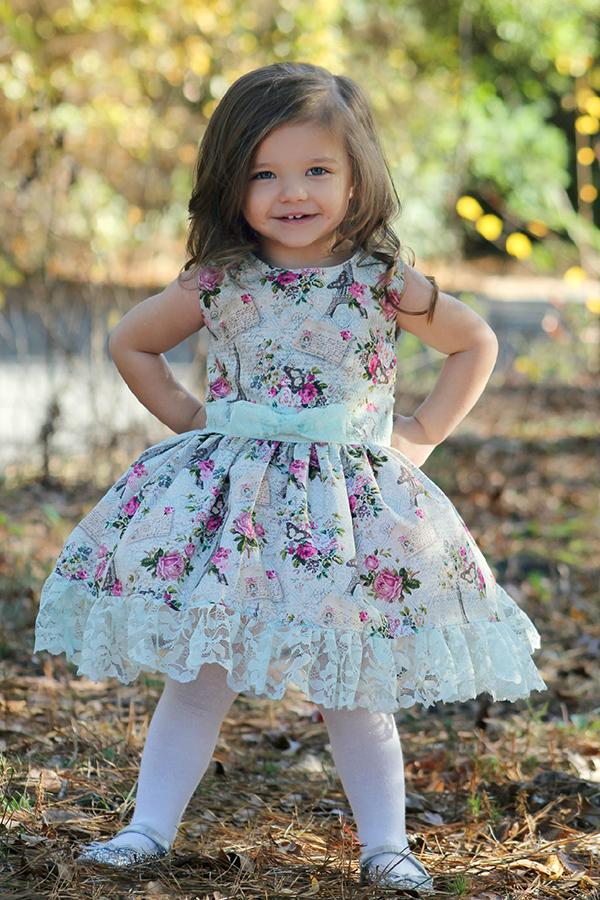 Diana's Vintage Dress Sizes 2T to 14 Kids PDF Pattern