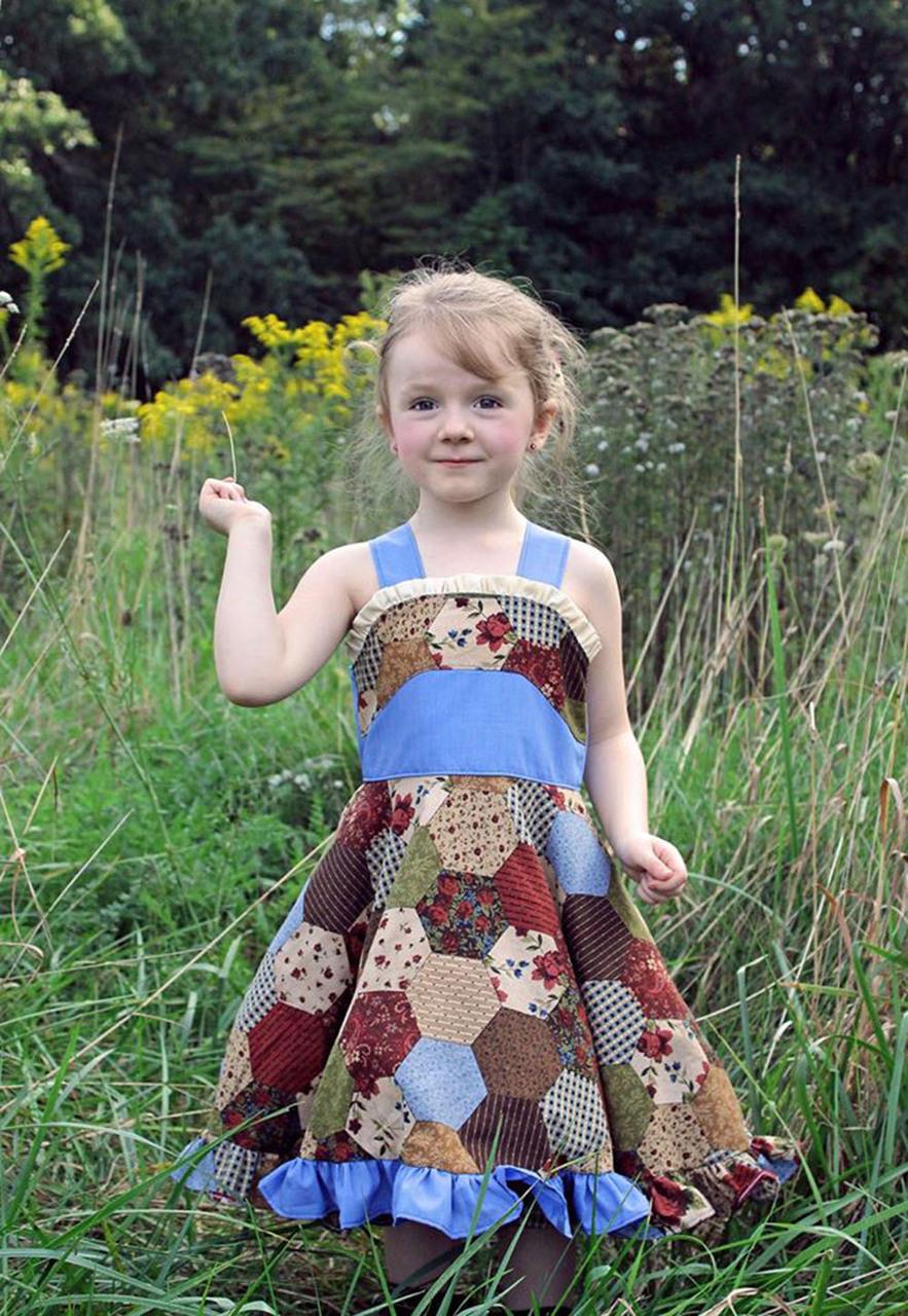 Lennon's Colorblock Dress Sizes 2T to 14 Kids PDF Pattern