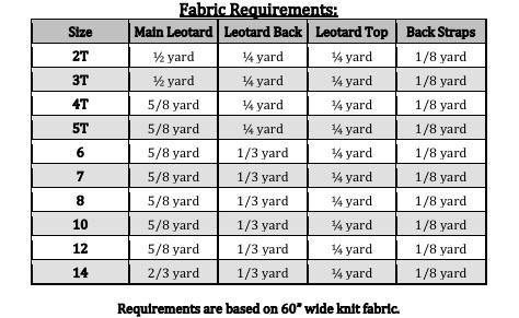 Ohanna's Open Back Leotard Sizes 2T to 14 Kids PDF Pattern