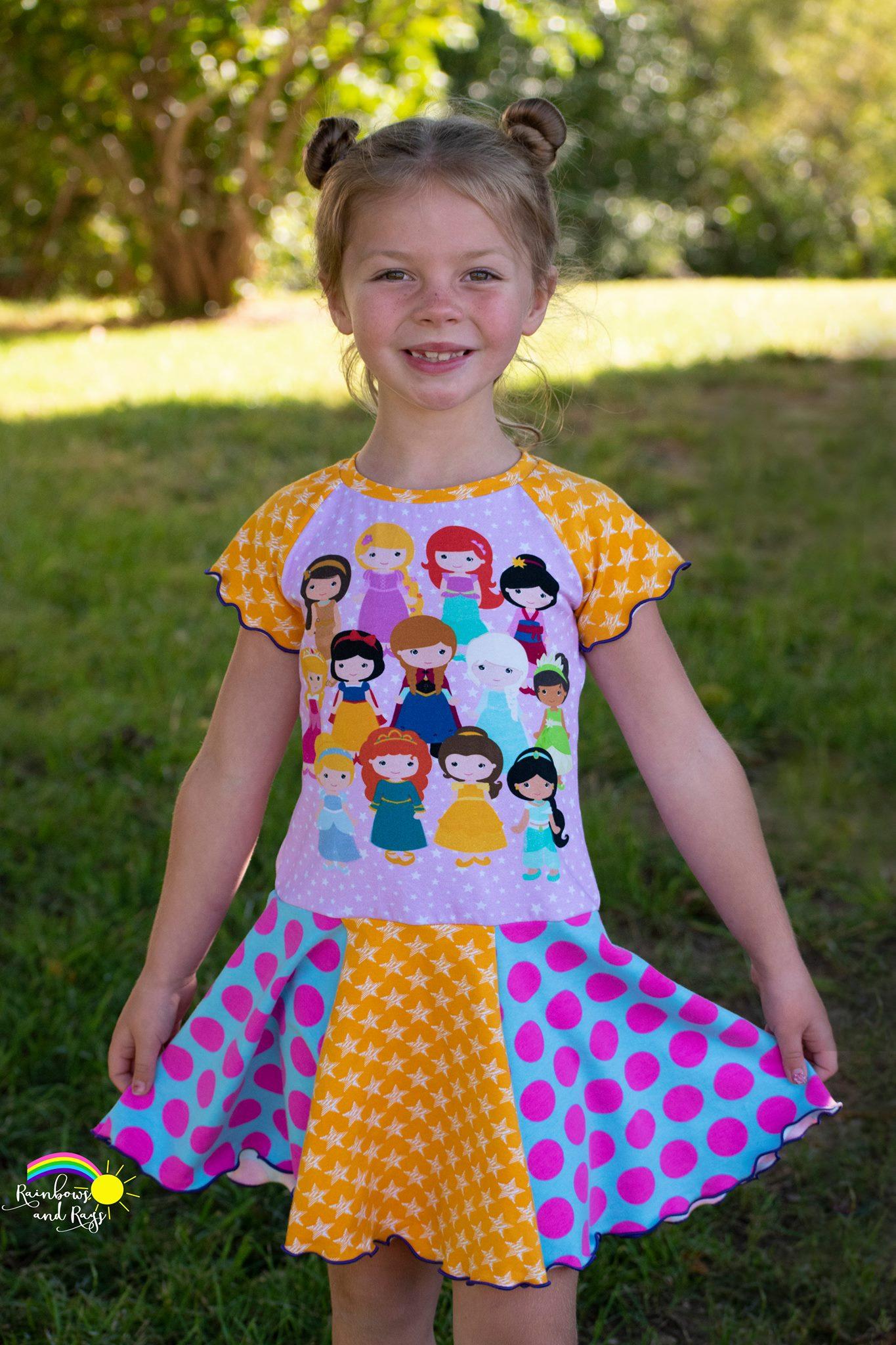 Ady's Paneled Pocket Dress Sizes 2T to 8 Kids PDF Pattern