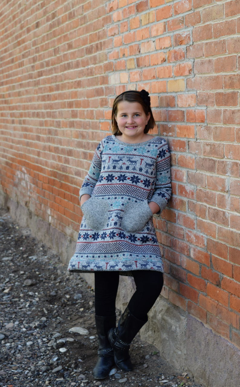 Miracle's Mitten Pocket Tunic Sizes 2T to 14 Kids PDF Pattern