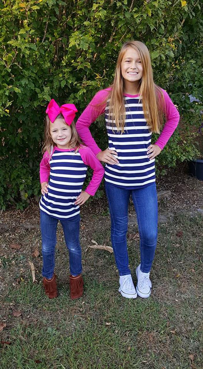 Sydney's Curved Hem Ruffle Raglan Top and Dress Sizes NB to 14 Kids PDF Pattern