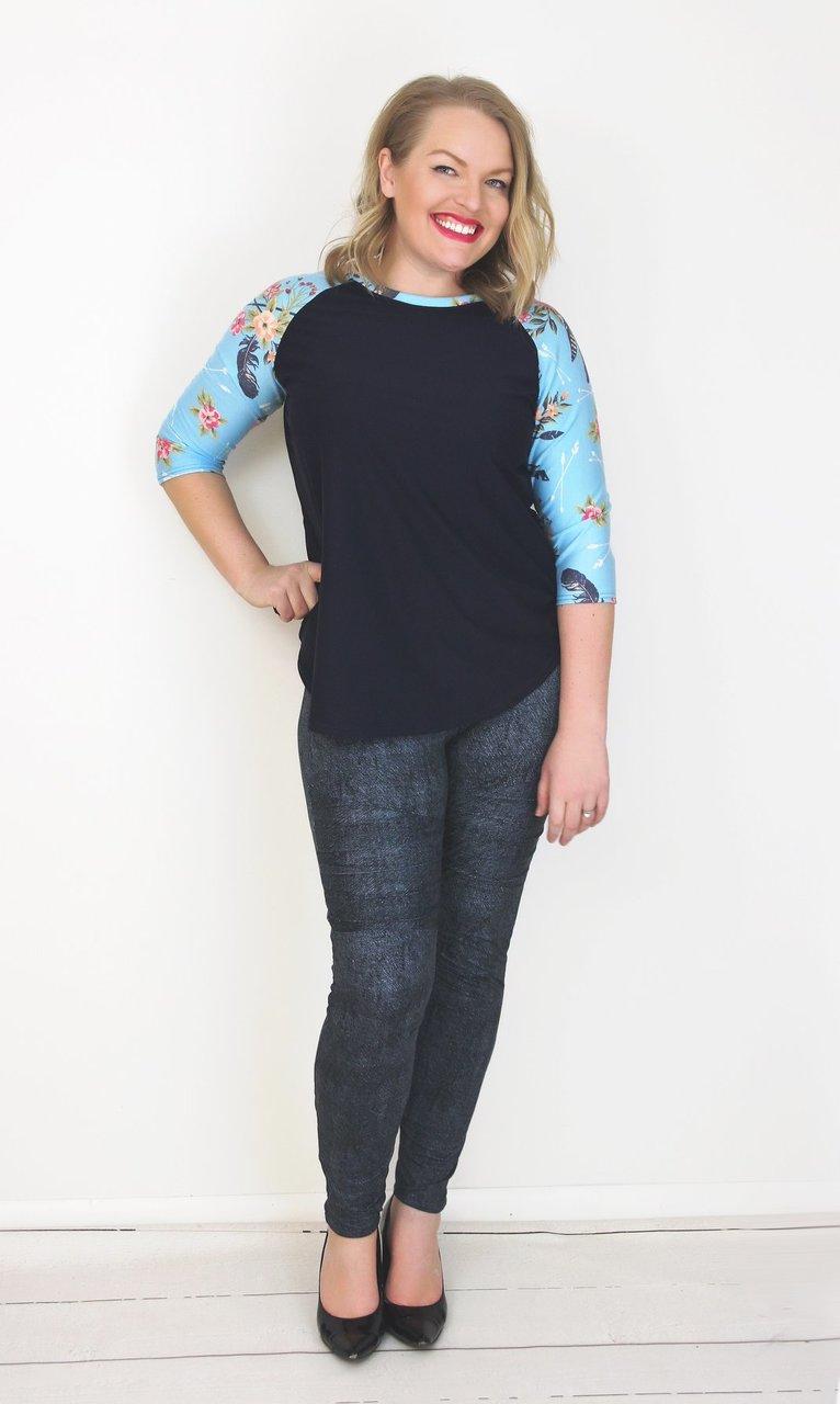 Sydney's Curved Hem Ruffle Raglan Top and Dress Sizes XXS to 4X Adults PDF Pattern
