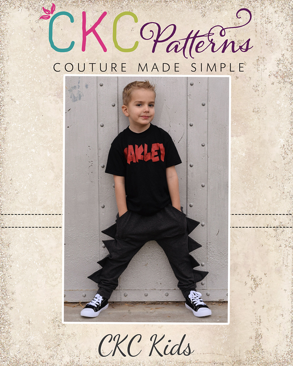 Isaac's Dino and Roo Joggers Sizes NB to 14 Kids PDF Pattern