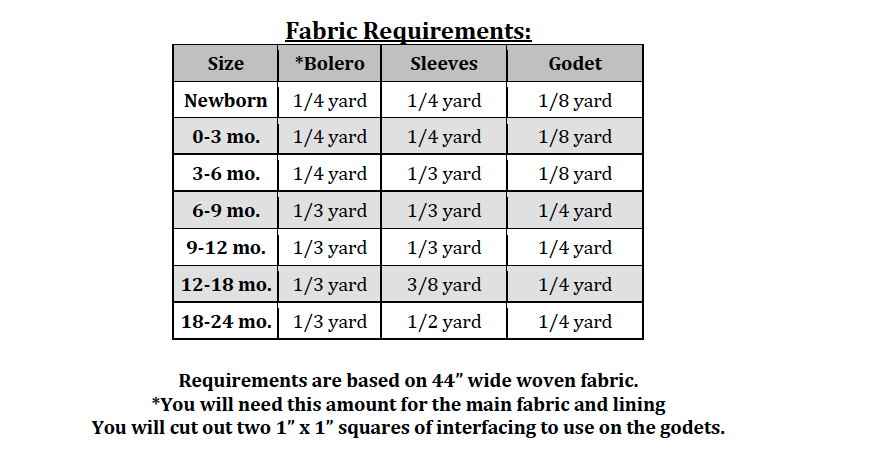 Bertie's Bolero Sizes NB to 14 Kids PDF Pattern