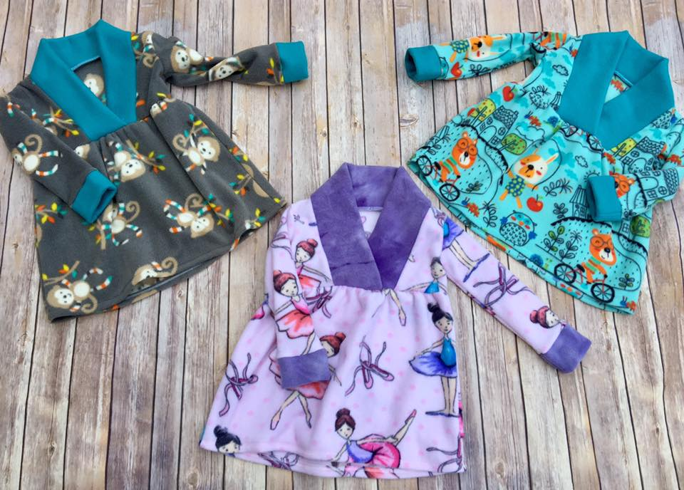 Fern's Fleece Scarf Collar Pullover Sizes 2T to 14 Kids PDF Pattern