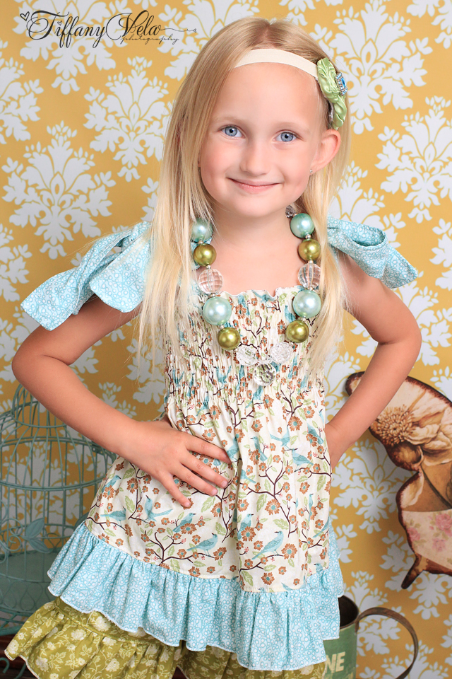 Magnolia's Top and Apron Set size 6/12m to 8 Kids and Dolls PDF Pattern