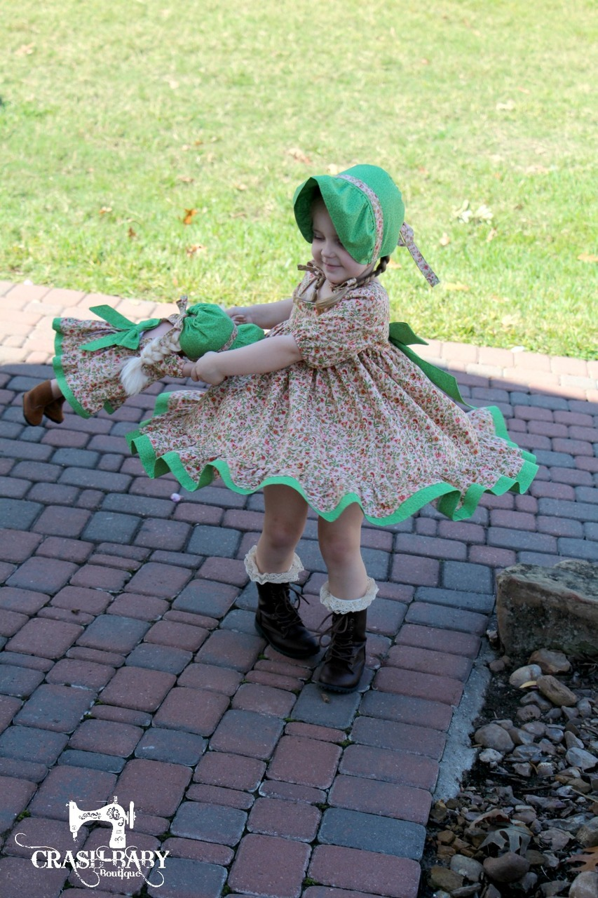 Tawny's Twirl Dress Sizes NB to 14 Kids and Doll PDF Pattern