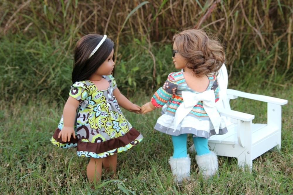 Tawny's Twirl Dress Sizes NB to 14 Kids and Doll PDF Pattern