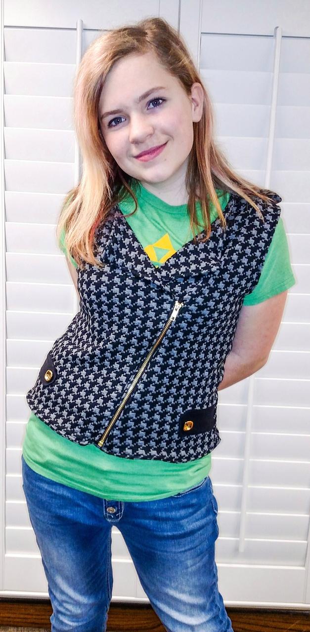 Jessie's Moto Jacket and Vest Sizes 2T to 14 Kids PDF Pattern