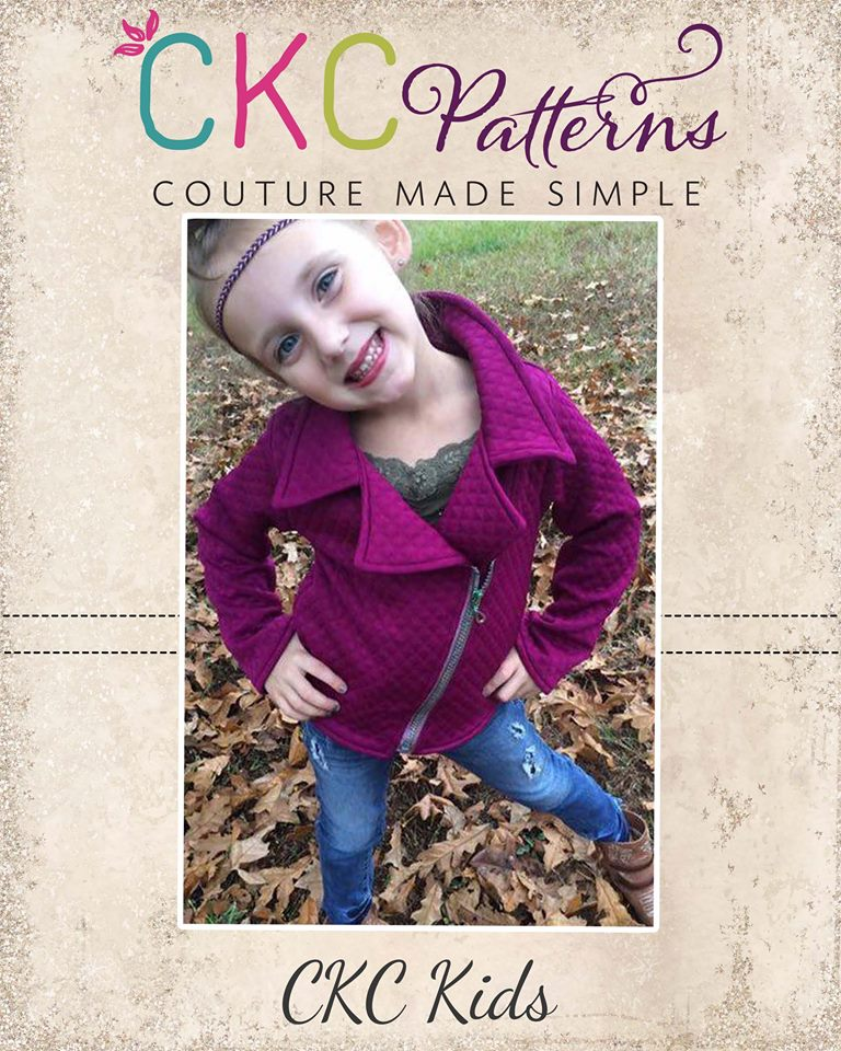 Jessie's Moto Jacket and Vest Sizes 2T to 14 Kids PDF Pattern