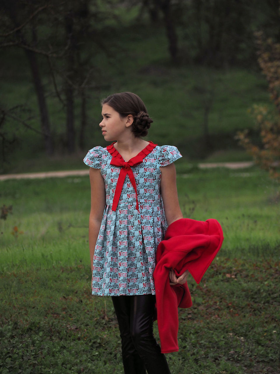 Annette's Pleated Tunic and Dress Sizes 2T to 14 Kids PDF Pattern