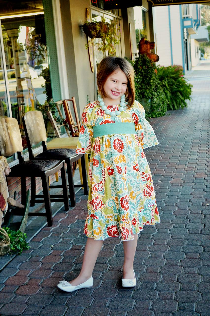 Marissa's Perfect Peasant Dress Sizes NB to 15/16 Kids and Dolls PDF Pattern