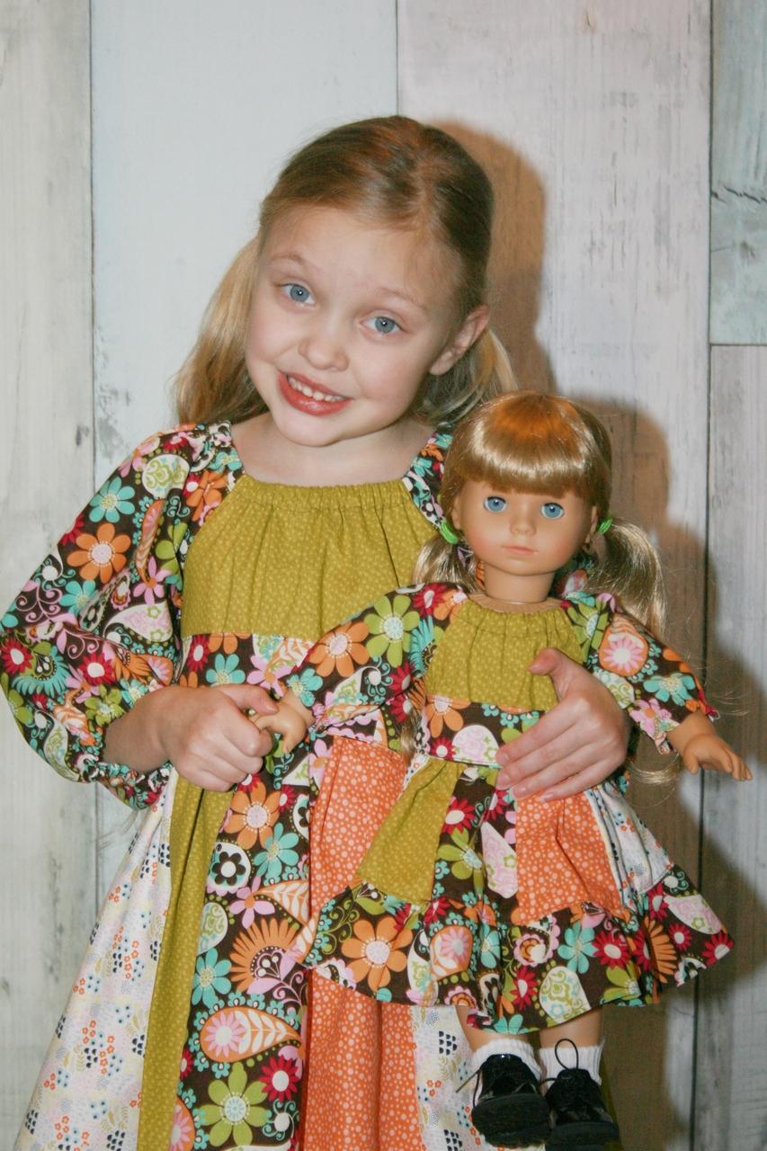 Jewel's Stripwork Dress in Doll Sizes PDF Pattern