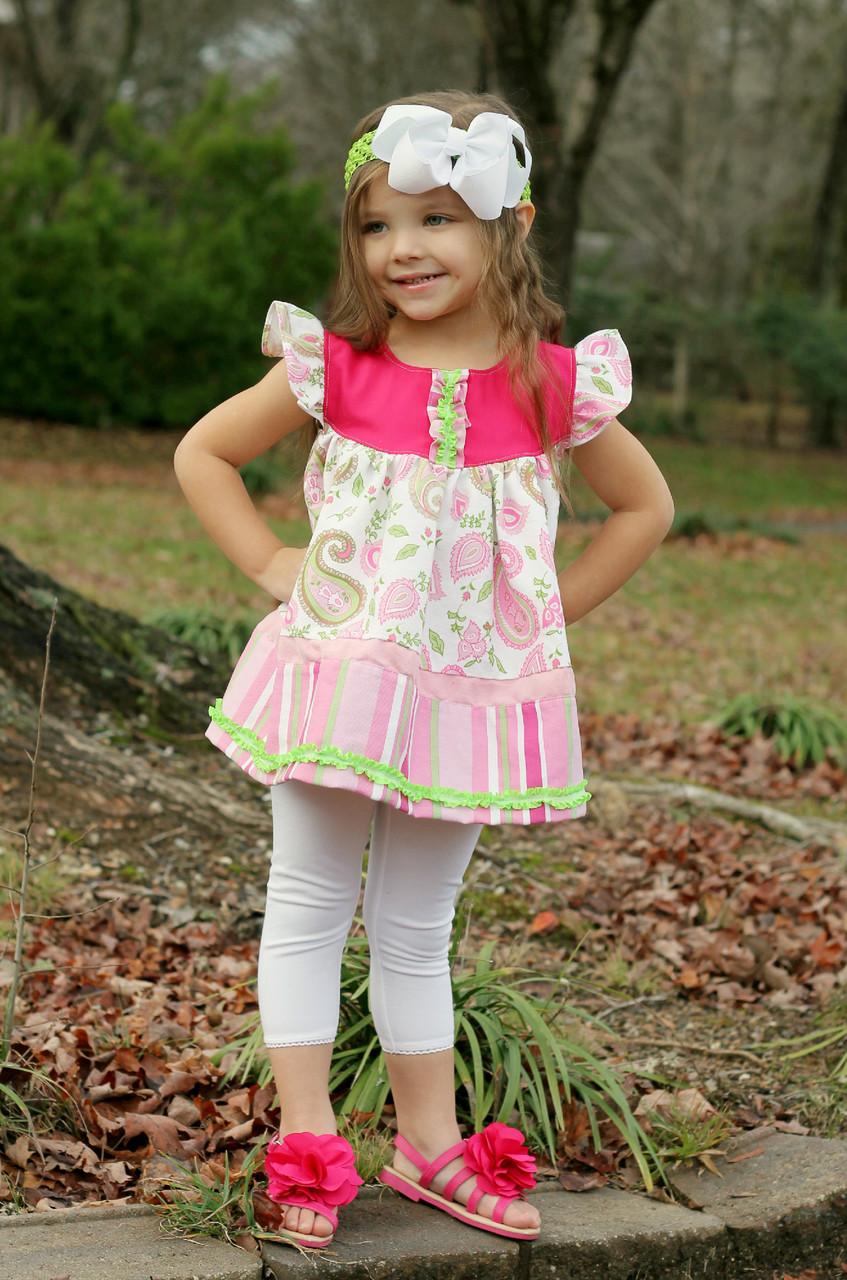 Moxie's Flutter Dress Sizes NB to 14 Kids PDF Pattern