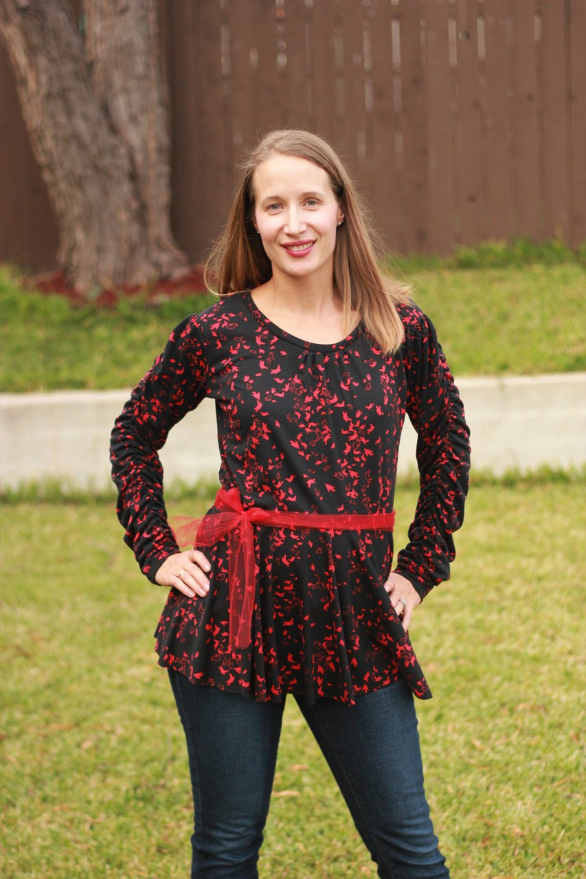 Esther's Ruched Top and Dress Sizes XXS to 4X Adults PDF Pattern
