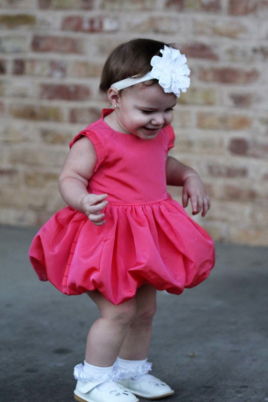 Alexis' Bubble Dress and Top with Pleats Sizes NB to 14 Kids and Dolls PDF Pattern