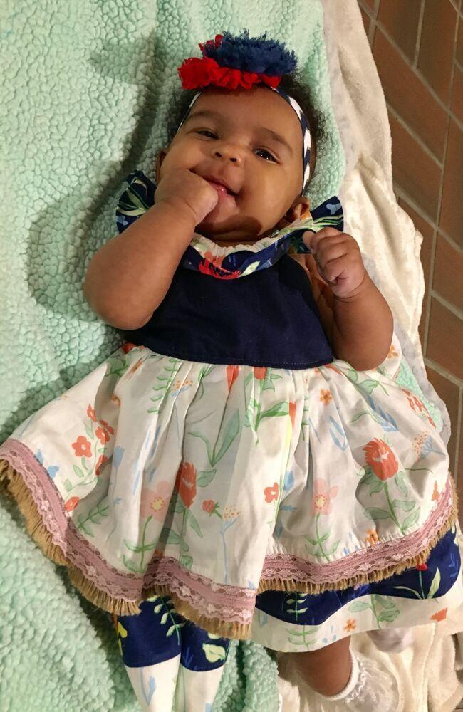 Rosabella's Baby Ruffle Neck Dress PDF Pattern