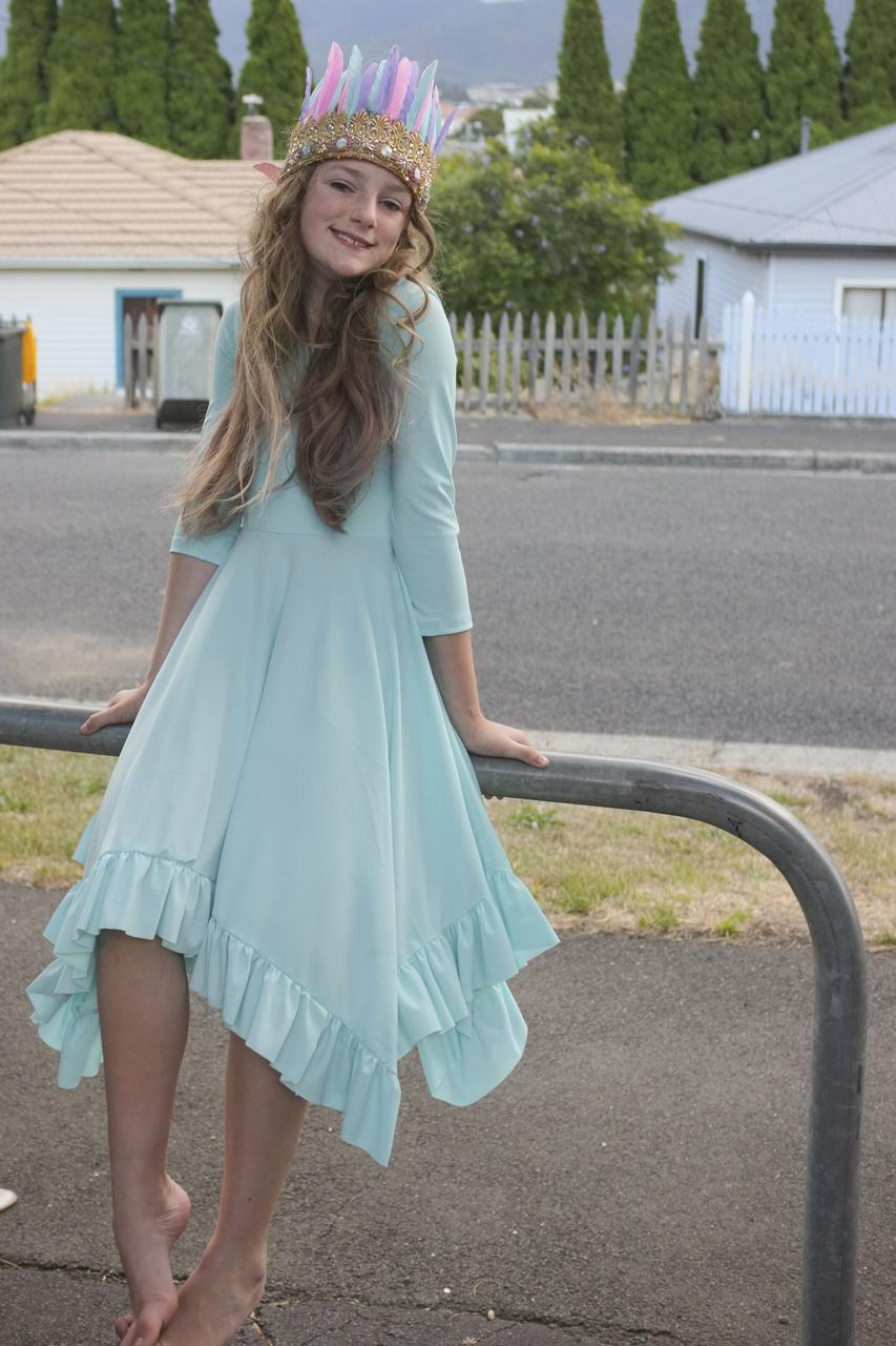 Starlyn's Ruffled Dress Sizes NB to 14 Kids PDF Pattern