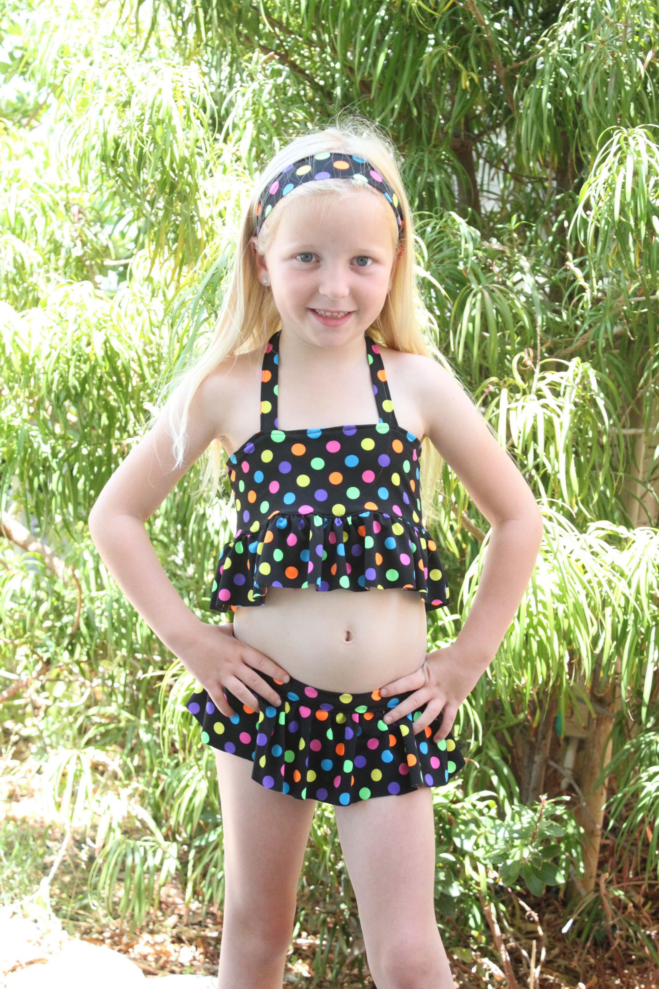 Naomi's Ruffle Bikini Sizes 2T to 15/16 Kids PDF Pattern