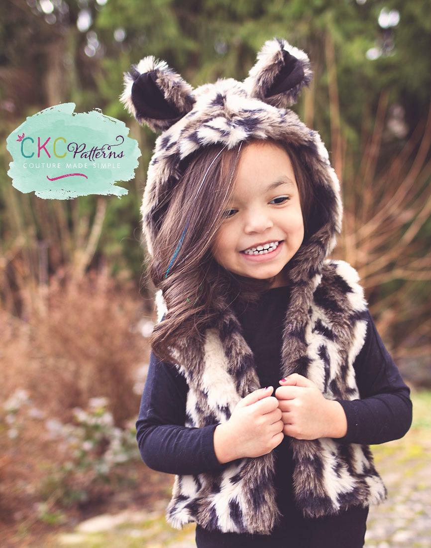 Frankie's Faux Fur Vest Sizes NB to 8 Kids and Dolls PDF Pattern