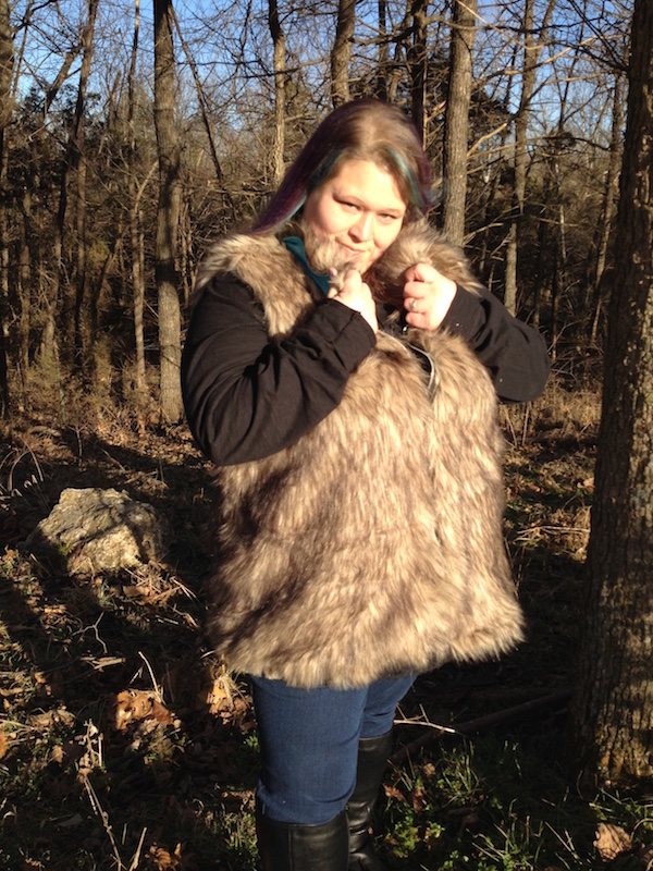 Frankie's Faux Fur Vest Sizes XXS to 4X Adults PDF Pattern