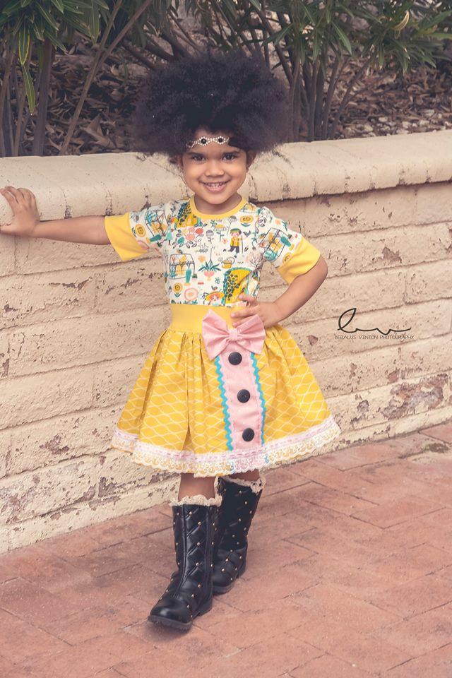 Jiacinta's Joyous Dress Sizes NB to 14 Kids PDF Pattern