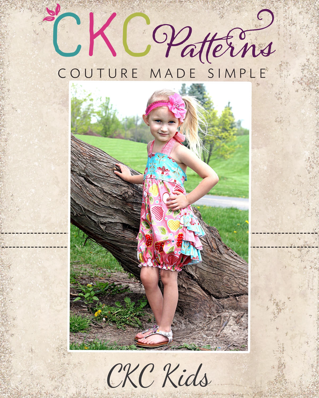 Natalie's Ruffle Butt Romper Sizes NB to 6 Kids and Dolls PDF Pattern