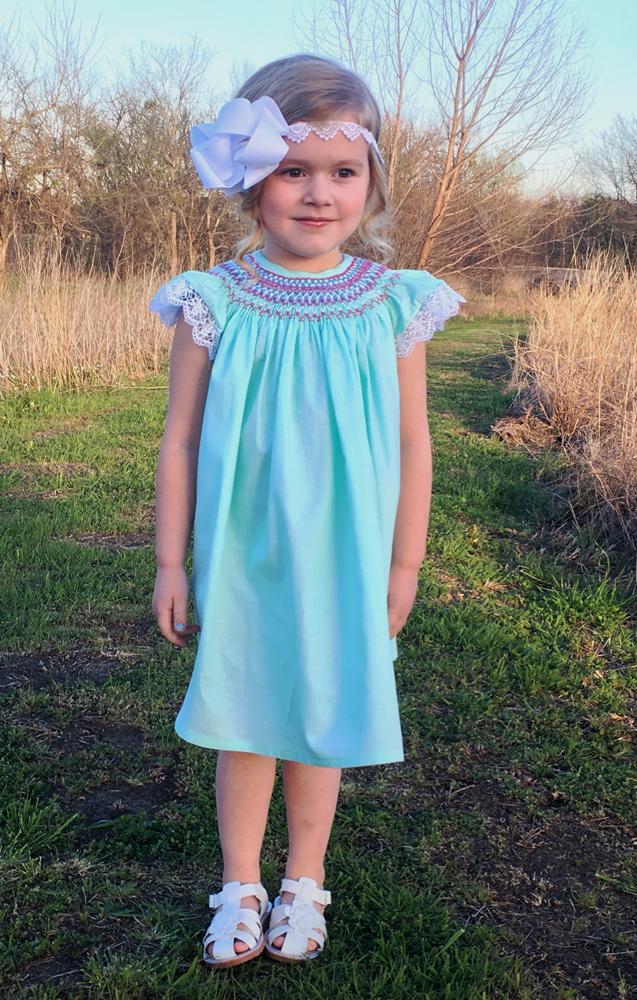 Sue Ellen's Smocked Bishop Top, Dress, and Romper Sizes NB to 14 Kids PDF Pattern