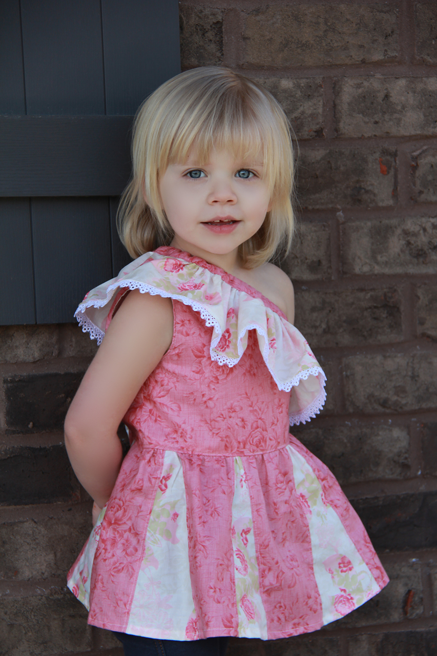 Athena's One Shoulder Dress and Top Sizes 2T to 14 Kids PDF Pattern