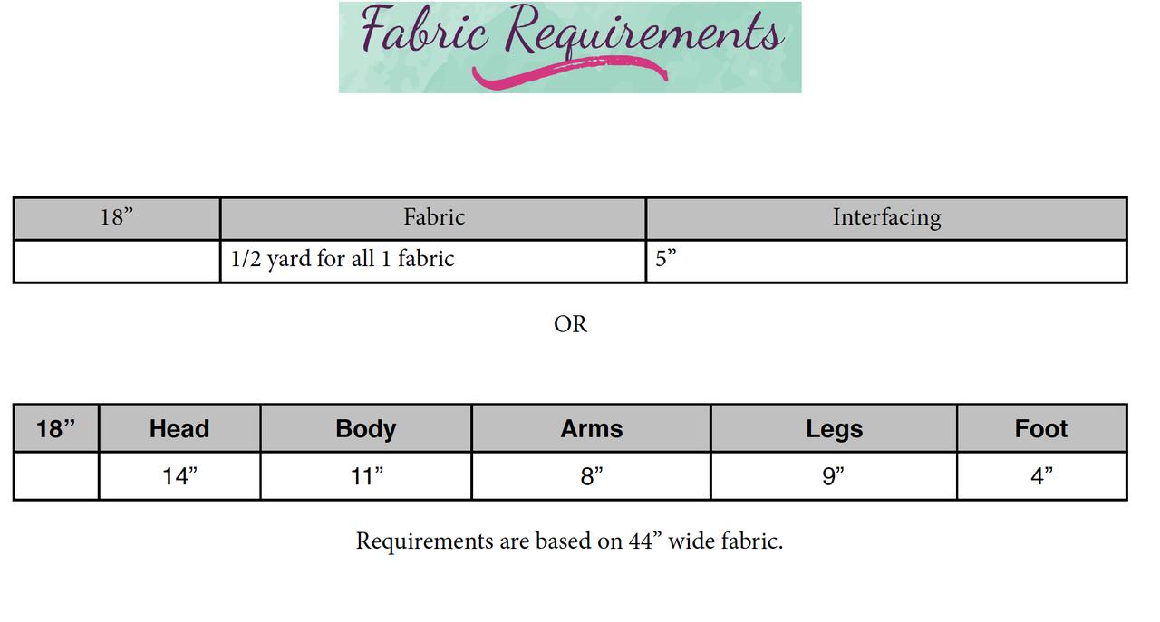 """Moon Unit 18"""" Dolls PDF Pattern"""