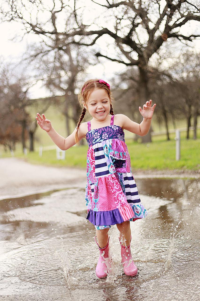 Fawn's Patchwork Dress Sizes NB to 14 Kids PDF Pattern